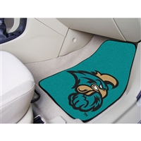 Coastal Carolina Chanticleers NCAA 2-Piece Printed Carpet Car Mats (18x27)