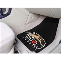 Southern Illinois Salukis NCAA 2-Piece Printed Carpet Car Mats (18x27)
