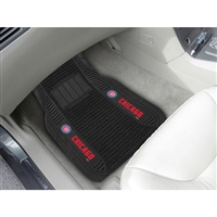 Chicago Cubs MLB Deluxe 2-Piece Vinyl Car Mats (20x27)