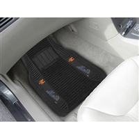 New York Mets MLB Deluxe 2-Piece Vinyl Car Mats (20x27)