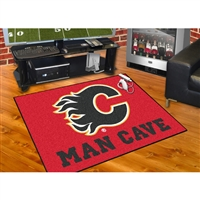Calgary Flames NHL Man Cave All-Star Floor Mat (34in x 45in)