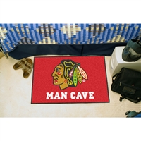 Chicago Blackhawks NHL Man Cave Starter Floor Mat (20in x 30in)