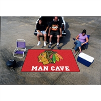 Chicago Blackhawks NHL Man Cave Ulti-Mat Floor Mat (60in x 96in)