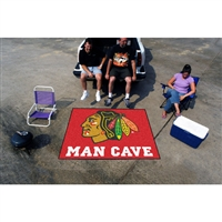 Chicago Blackhawks NHL Man Cave Tailgater Floor Mat (60in x 72in)