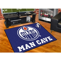 Edmonton Oilers NHL Man Cave All-Star Floor Mat (34in x 45in)
