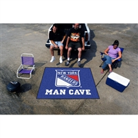New York Rangers NHL Man Cave Tailgater Floor Mat (60in x 72in)