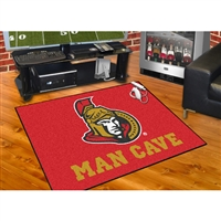 Ottawa Senators NHL Man Cave All-Star Floor Mat (34in x 45in)