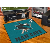 San Jose Sharks NHL Man Cave All-Star Floor Mat (34in x 45in)