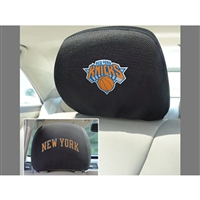 New York Knicks NBA Polyester Head Rest Cover (2 Pack)