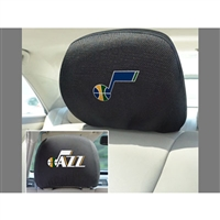 Utah Jazz NBA Polyester Head Rest Cover (2 Pack)