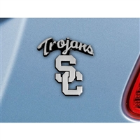 USC Trojans NCAA Chrome Car Emblem (2.3in x 3.7in)