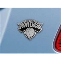 New York Knicks NBA Chrome Car Emblem (2.3in x 3.7in)