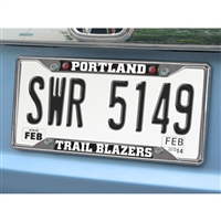Portland Trail Blazers NBA Chrome License Plate Frame