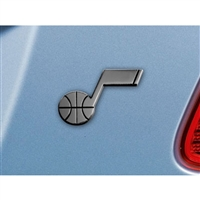 Utah Jazz NBA Chrome Car Emblem (2.3in x 3.7in)