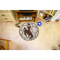 Wyoming Cowboys NCAA Soccer Ball Round Floor Mat (29)