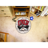 Nevada Las Vegas Runnin Rebels NCAA Soccer Ball Round Floor Mat (29)
