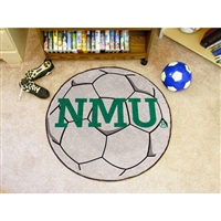 Northern Michigan Wildcats NCAA Soccer Ball Round Floor Mat (29)