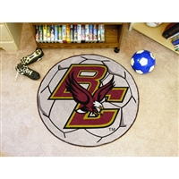 Boston College Golden Eagles NCAA Soccer Ball Round Floor Mat (29)
