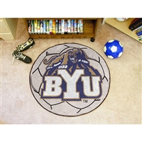 Brigham Young Cougars NCAA Soccer Ball Round Floor Mat (29)
