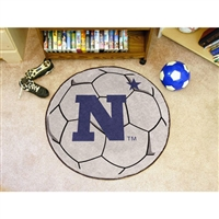 Navy Midshipmen NCAA Soccer Ball Round Floor Mat (29)