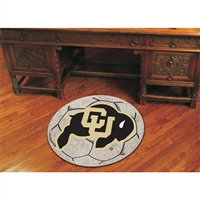 Colorado Golden Buffaloes NCAA Soccer Ball Round Floor Mat (29)