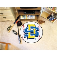 South Dakota State Jackrabbits NCAA Baseball Round Floor Mat (29)