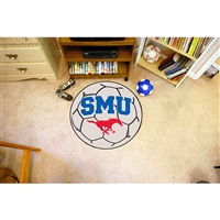 Southern Methodist Mustangs NCAA Soccer Ball Round Floor Mat (29)