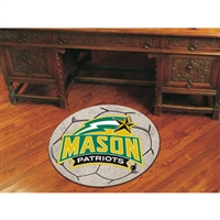 George Mason Patriots NCAA Soccer Ball Round Floor Mat (29)