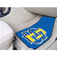 South Dakota State Jackrabbits NCAA 2-Piece Printed Carpet Car Mats (18x27)