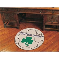 Notre Dame Fighting Irish NCAA Soccer Ball Round Floor Mat (29) Fighting Irish Logo