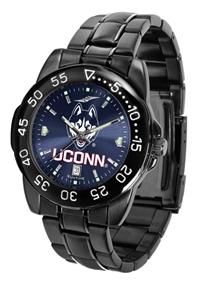 Connecticut Huskies Fantom Sport Watch, Anochrome Dial, Black