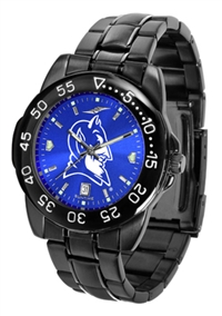 Duke Blue Devils Fantom Sport Watch, Anochrome Dial, Black
