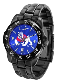 Fresno State Bulldogs Fantom Sport Watch, Anochrome Dial, Black