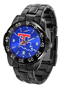 Louisiana Tech (LA Tech) Bulldogs Fantom Sport Watch, Anochrome Dial, Black