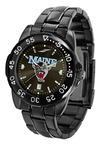 Maine Black Bears Fantom Sport Watch, Anochrome Dial, Black