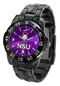 Northwestern State Demons Fantom Sport Watch, Anochrome Dial, Black
