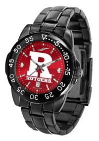 Rutgers Scarlet Knights Fantom Sport Watch, Anochrome Dial, Black