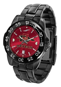 San Diego State Aztecs Fantom Sport Watch, Anochrome Dial, Black