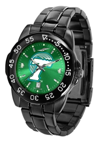 Tulane Green Wave Fantom Sport Watch, Anochrome Dial, Black
