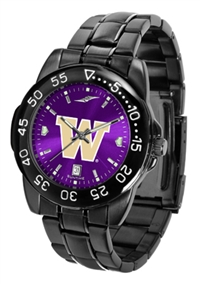Washington Huskies Fantom Sport Watch, Anochrome Dial, Black