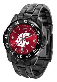 Washington State Cougars Fantom Sport Watch, Anochrome Dial, Black