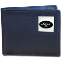 New York Jets NFL Bifold Wallet in a Tin