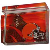 Cleveland Browns Crystal Business Card Holder