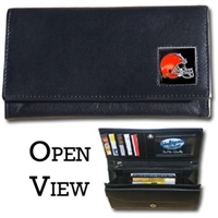 Women's NFL Leather Wallet - Cleveland Browns