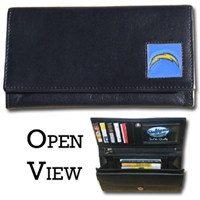 Women's NFL Leather Wallet - San Diego Chargers