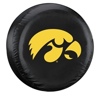 Iowa Hawkeyes NCAA Spare Tire Cover (Large) (Black)