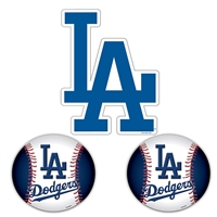 Los Angeles Dodgers MLB Ultimate Car Magnet Kit (3Pc Set)