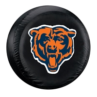 Chicago Bears NFL Spare Tire Cover (Large) (Black)