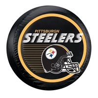 Pittsburgh Steelers NFL Spare Tire Cover (Large) (Helmet Design) (Black)