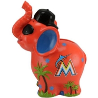 Miami Marlins MLB Thematic Elephant Coin Bank